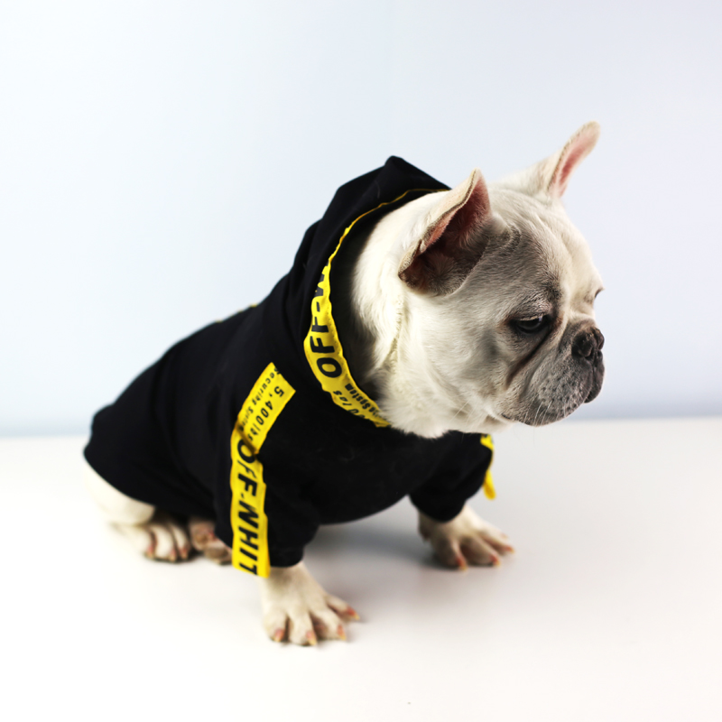 3Takins New Design Hot Luxury Dog Hoodies for Pet Accessories Wholesale and Ready to Ship, Black+yellow