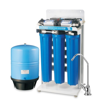 5 Stage Commercial RO Water Filter System Purification Machine 200GPD Steel Shelf