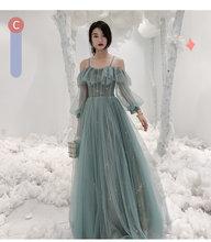 Новое длинное платье подружки невесты, вечерние платья смешанного стиля для выпускного вечера(Китай)