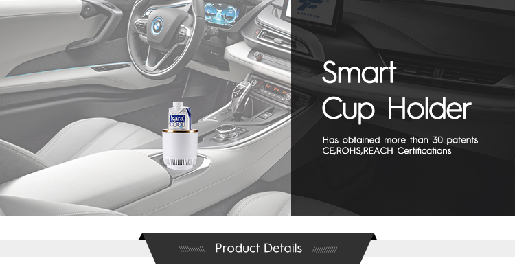 2020 Car cooling and heating drink cup holder business gift set with logo