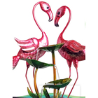 Table Decoration Liffy Hot Sale Fused Glass Flamingo Design Water Fountain Table Top Home Decoration