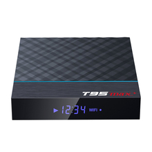 T95MAX + Android TV Box Amlogic S905x3 TV Box T95 Max Plus Android 9.0 1920X1080 <span class=keywords><strong>HD</strong></span> 4K video Download