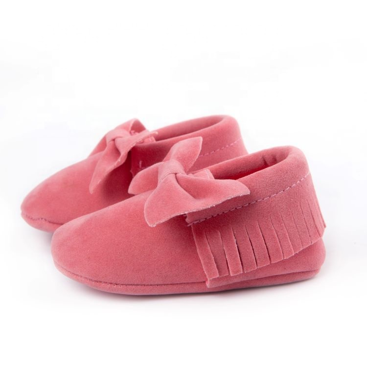 Adorable Moccasins Baby Leather Shoes Girls Mocs Crib Shoes