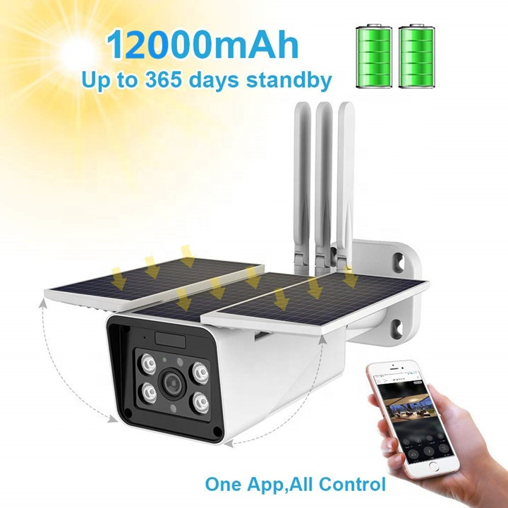 4G 1080P Outdoor Solar Battery Power Security Camera wifi Wireless Rechargeable Battery IP Camera with Motion Detection