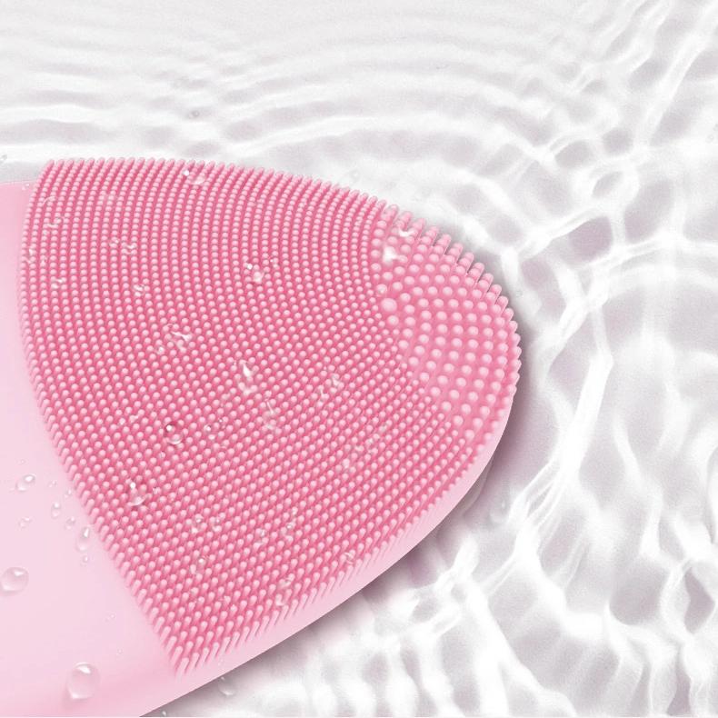 Оптовая продажа IPX7 Водонепроницаемый ультразвуковая электрическая зубная щетка Силиконовые вибрационный массаж лица кисти моющее средство для чистки лица отшелушивающая щетка
