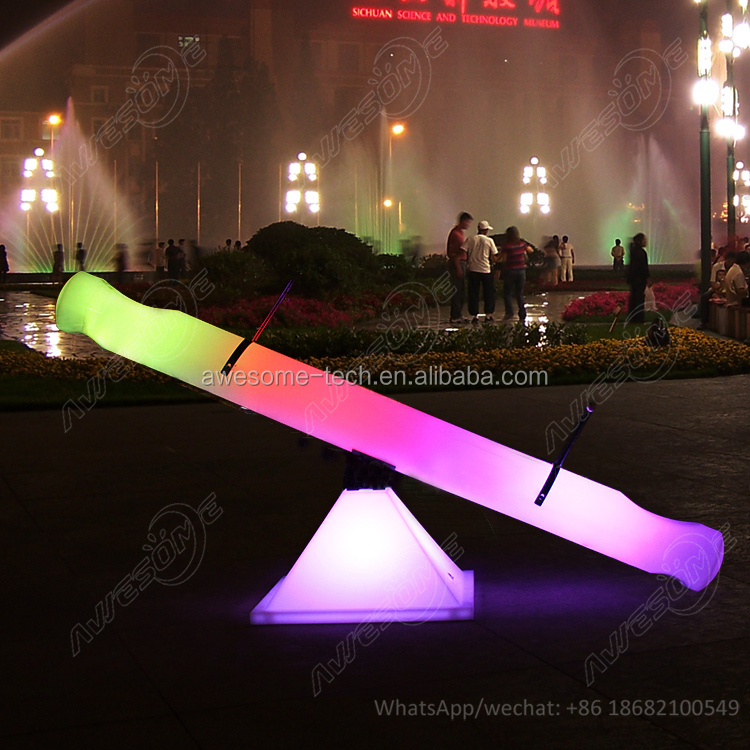 Outdoor use Garden decoration led illuminated seesaw for adults 2019 amusement equipment party event glow seesaw