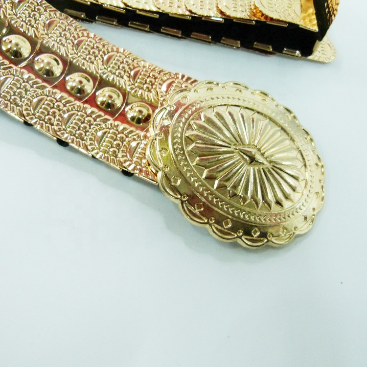 Moroccan Caftan Gold Plated Belt wedding belt