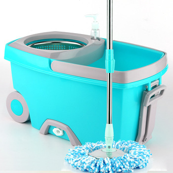 Portable 360 spin easy mop and rotation easy go mop with wheel