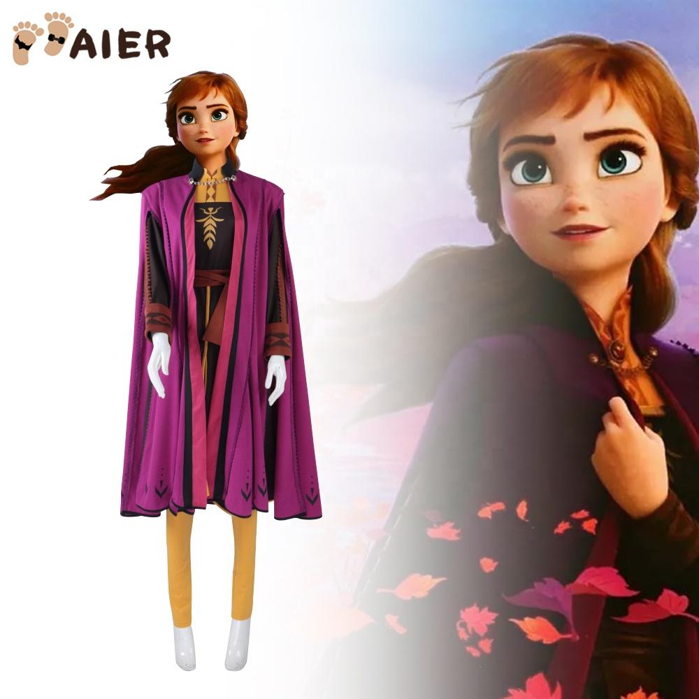 Girls Frozen Inspired Princess Elsa Anna Dress Up Party Costumes