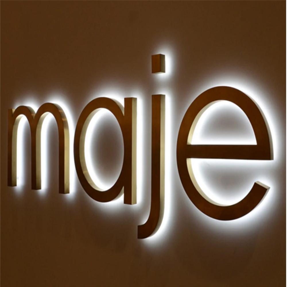 Manufacturer Custom magnetic high brightness 3D store signage electronic led letter sign board