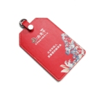 China supplier woman slim fashion red microfiber office employee's id card holder