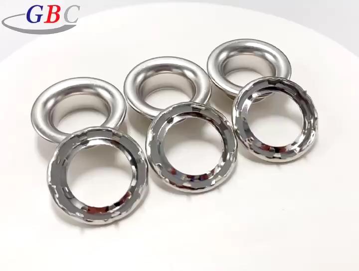 Accesorios de prendas de vestir de metal de acero inoxidable de ojal con garra de la lona