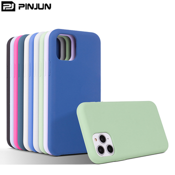 For iPhone 11 Case liquid Silicone, Body Skin Custom Logo Micro-matte Silicone Phone Case For iPhone 11 Pro Max Retail Packing