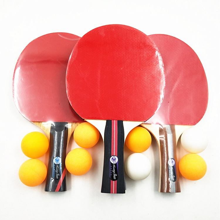 Raquettes de Tennis de Table personnalisées, 4 raquettes + 8 balles, ensemble avec filet en plastique rétractable, bon marché oem