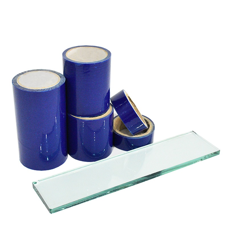 Keshu Professional custom pe blue protective film glass sheet anti-scratch pe protective film manufacturer