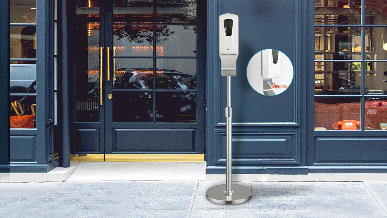 Heavybao Boden Stehen für Touch Kostenloser Instant Automatische Hand Desinfektion Spender