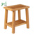 Bamboo Slotted Bathroom Stool with a storage shelf