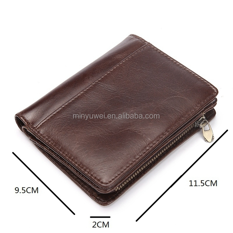 Designer Mens Wallet oil Leather Bifold Short Wallets Men Hasp Vintage Male Purse Coin Pouch Multi-functional Cards Wallet