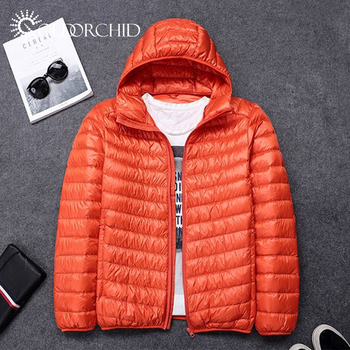 Wholesale hooded winter jacket custom lightweight mens down jacket