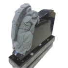 Stone Tombstone. Wholesale Monument-for-cemetery-design Customized With Headstone Flower Vase And Base Stone Tombstone.