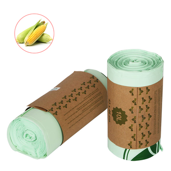 Eco friendly biodegradable Corn starch Compostable plastic packaging bag on roll