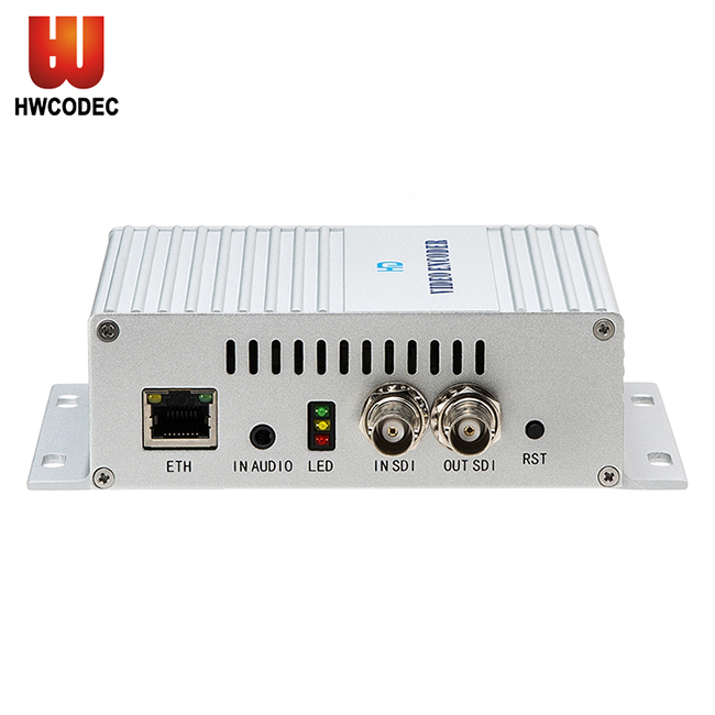Haiwei H5610B h264 h.265 loop out sdi to ip encoder iptv encoder streaming video encoder for live streaming video conference