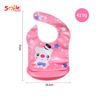 Cute Animals Newborn Infant Cartoon Feeding Bib Toddler Baby Boys Girls Removable Waterproof Saliva Towel Bib