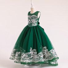 Летние Детские платья для девочек-подростков 2020, праздничные Свадебные платья для девочек, кружевное платье для выпускного вечера, длинное ...(Китай)