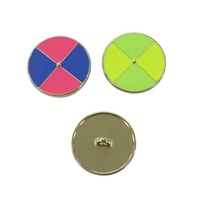 New fashion sewing button custom two tone metal shank button with epoxy