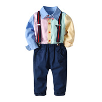 Wholesale Kids Clothing Boys Sets Long Sleeves Shirt & Pants 2pcs/set For Party Wear 19A290