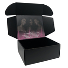 Matt Black Small Cardboard Corrugated Foldable Packing Mailing Box Free Sample Custom Logo Cosmetic Mail Shipping Box