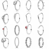 Fashion ring jewelry 925 sterling silver multi designs women rings fit for pandora ring jewelry