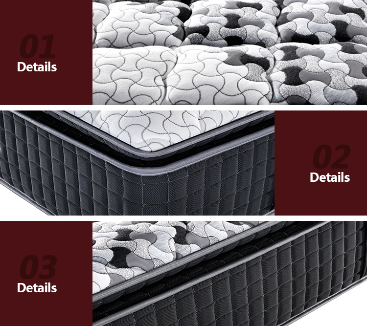 3 zones pocket spring memory foam mattress 5 star hotel wholesale pillow top mattress