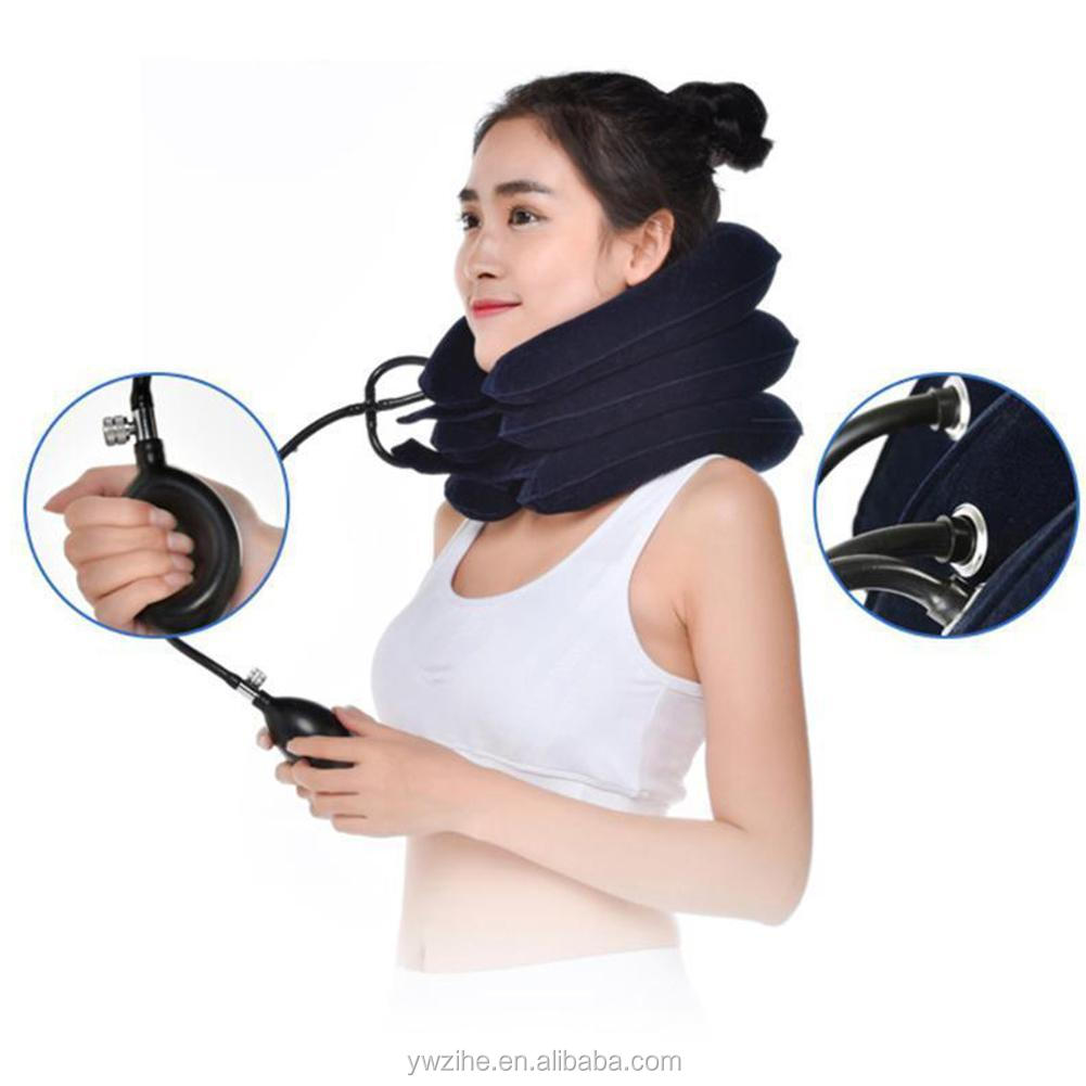 Household cervical traction device Inflatable men women Cervical vertebra care headhead neck pain relief Support collar Brace