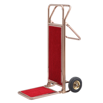 Stainless Steel Luggage Cart, The Hotel Lubby Simple Folding Trolley