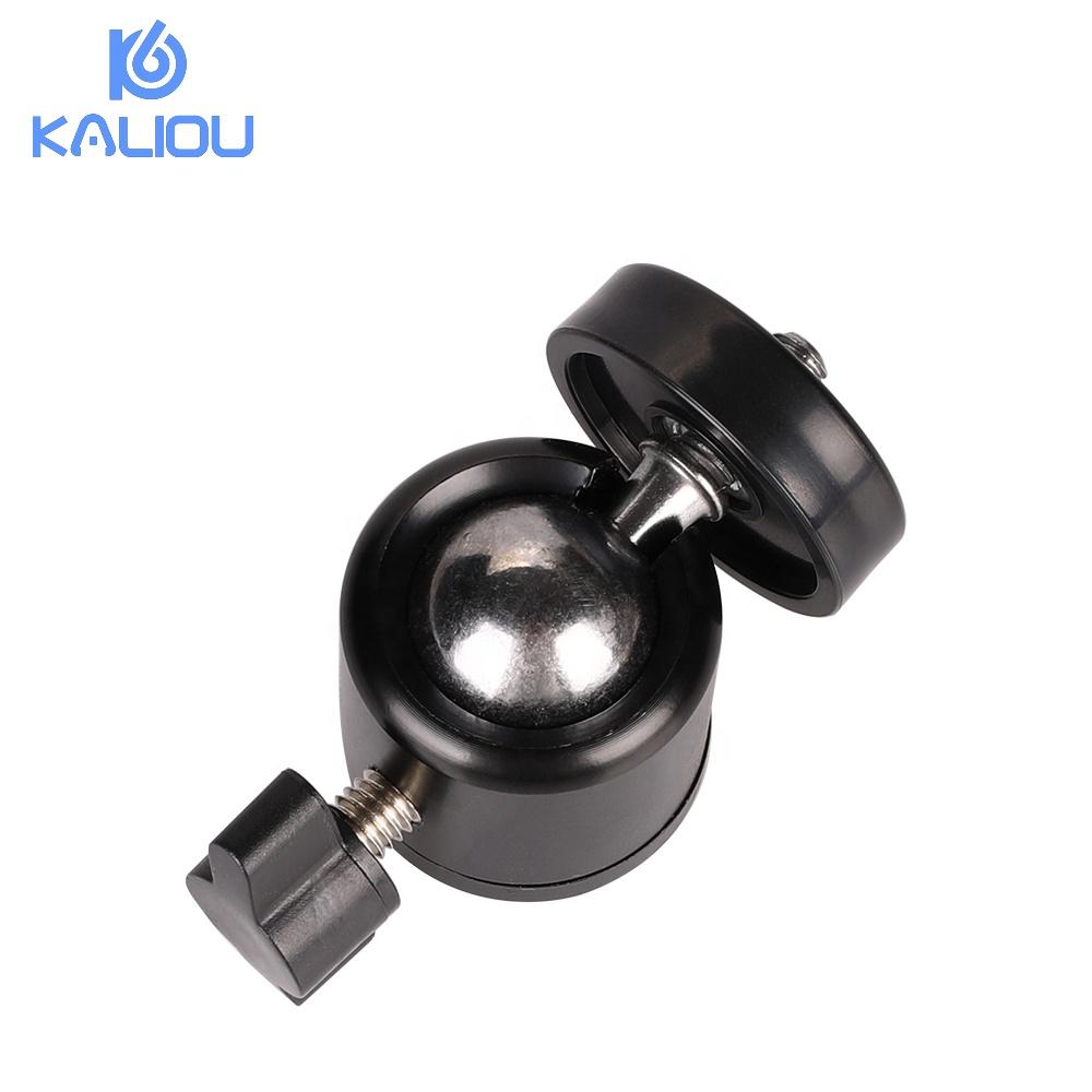 Kaliou camera tripod ball head mount 360 degree swivel 1/4