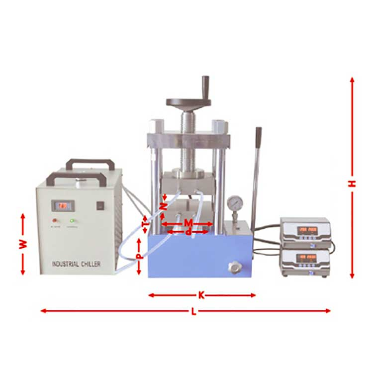 Polymer Composite Material Hot Pressing Machine Double-Plate Electric Heating Hot Press