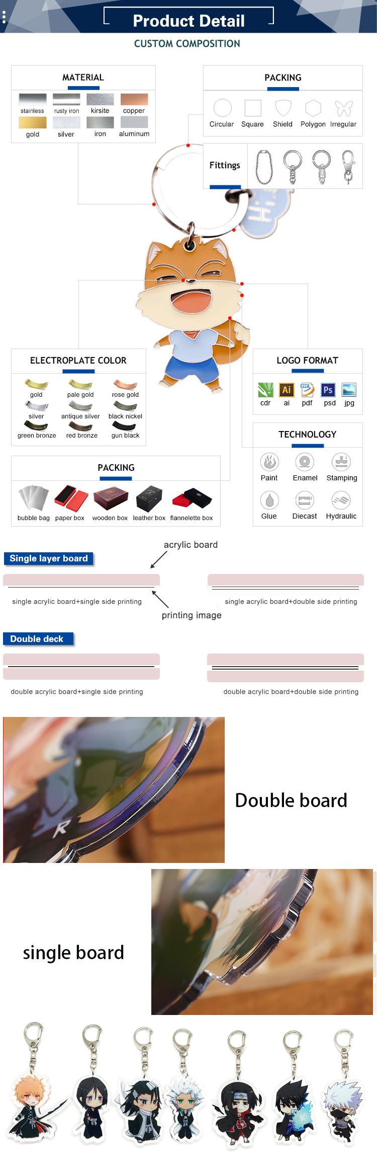 Fabricante direto de Metal Personalizado Chaveiro de Aço Inoxidável Chaveiro Liga de Zinco Chaveiro de metal keychain