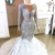 hand made beaded and crystal Wedding gown With Train long sleeves plus size  Mermaid wedding dress Bridal Gowns