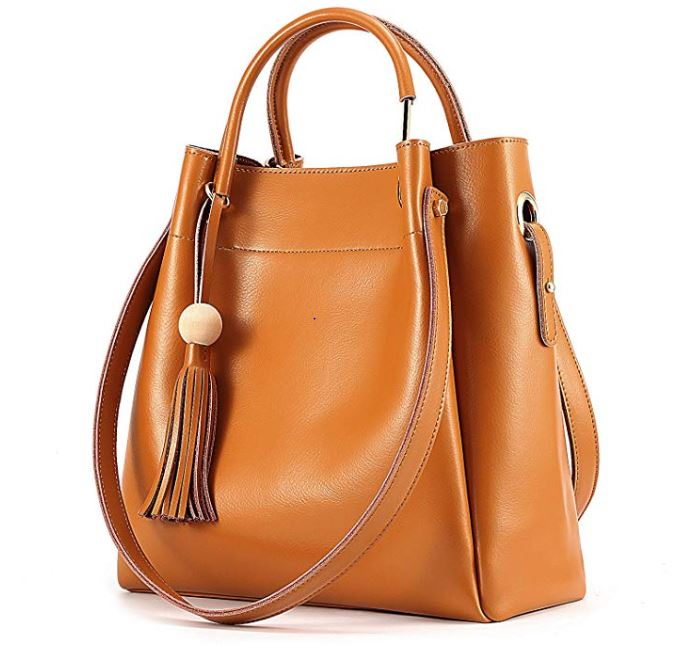 Fashion Women's <strong>Genuine</strong> <strong>Leather</strong> <strong>Hobo</strong> Tote Shoulder <strong>Bag</strong> with Tassel