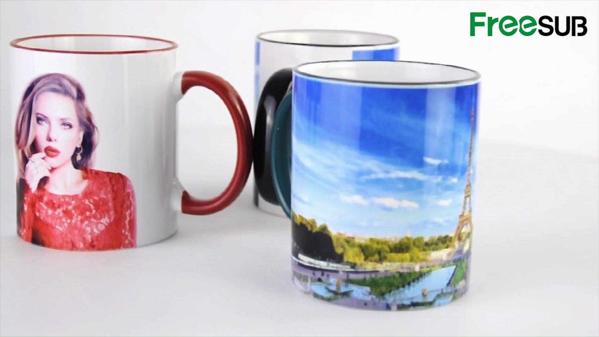 high quality sublimation 11OZ ceramic white mug for printing