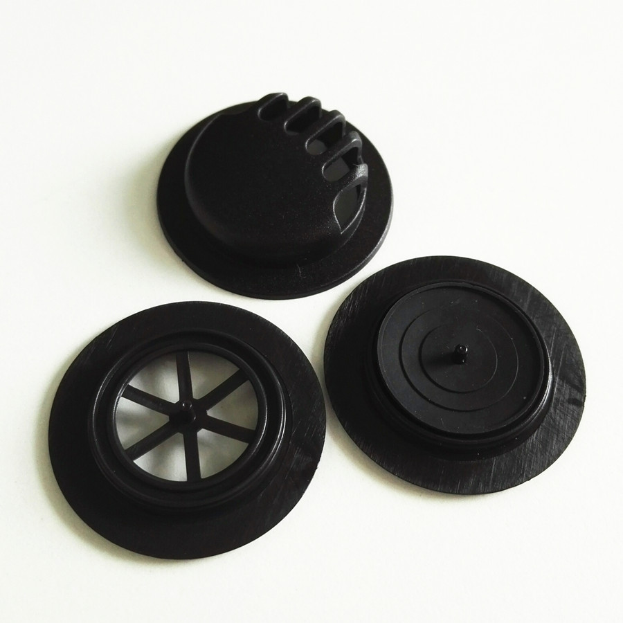 Stock durable Black colors facemask plastic exhaust One way breath <strong>valve</strong> with rubber film for facemask