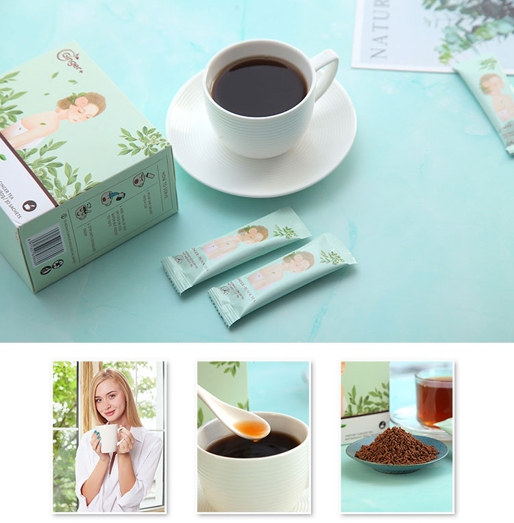 2019 Certified Herbal Tea Chinese Black Green Tea Burning Fat Ginger Slimming Tea - 4uTea | 4uTea.com
