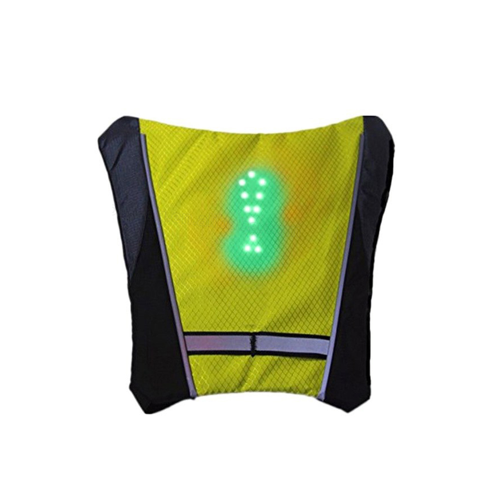 Outdoor Riding LED Turn Signal Vest Backpack