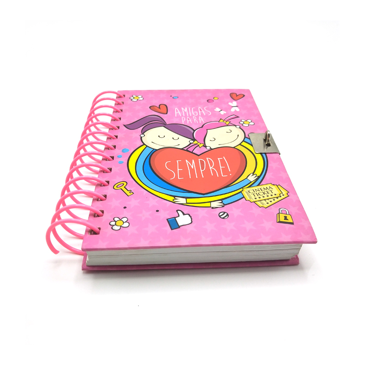 OEM großhandel custom hardcover A4 A5 big spiral notebook druck