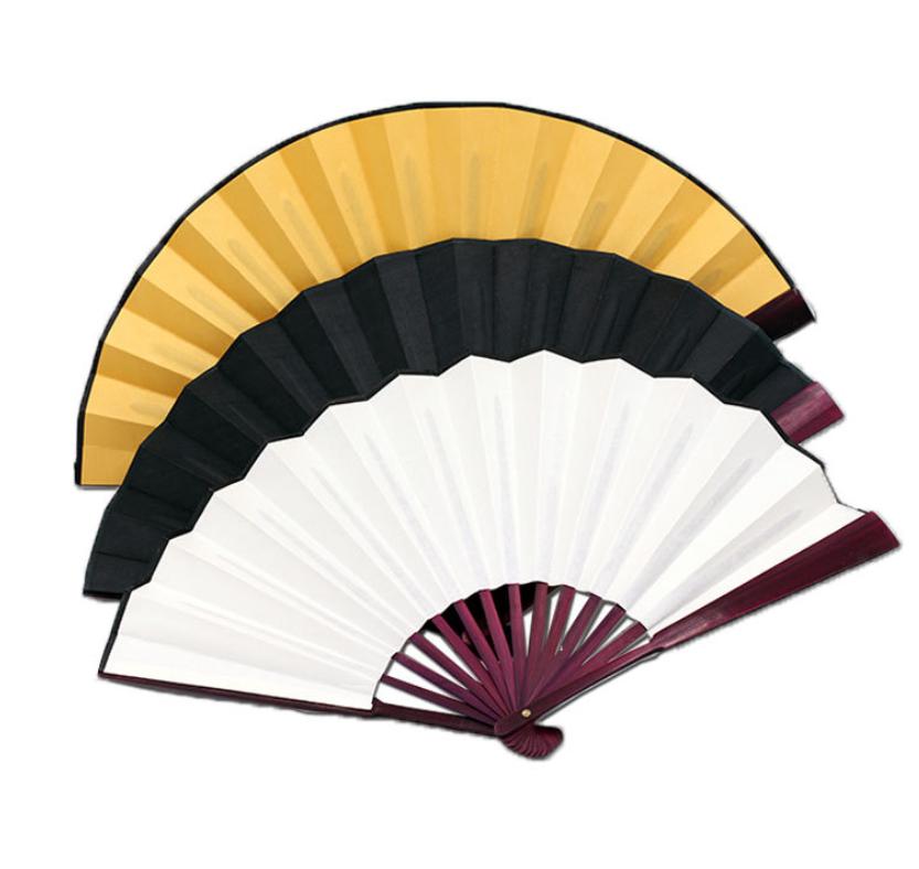 Tasarım yaratıcı rüzgar toptan boş ipek kumaş yazma çekme katlama fanı