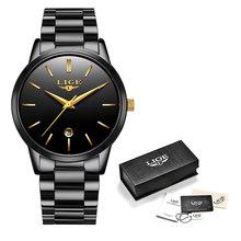 Женские часы LIGE, Серебристые часы со стальным браслетом в подарок, 2019(China)