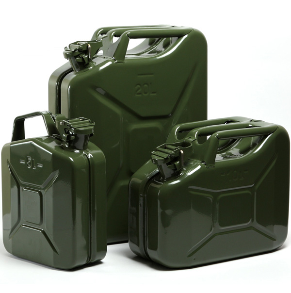 NATO 金属ジェリー缶軍事仕様燃料タンク軍ガソリンディーゼル収納容器 5L/10Lt/20Ltr