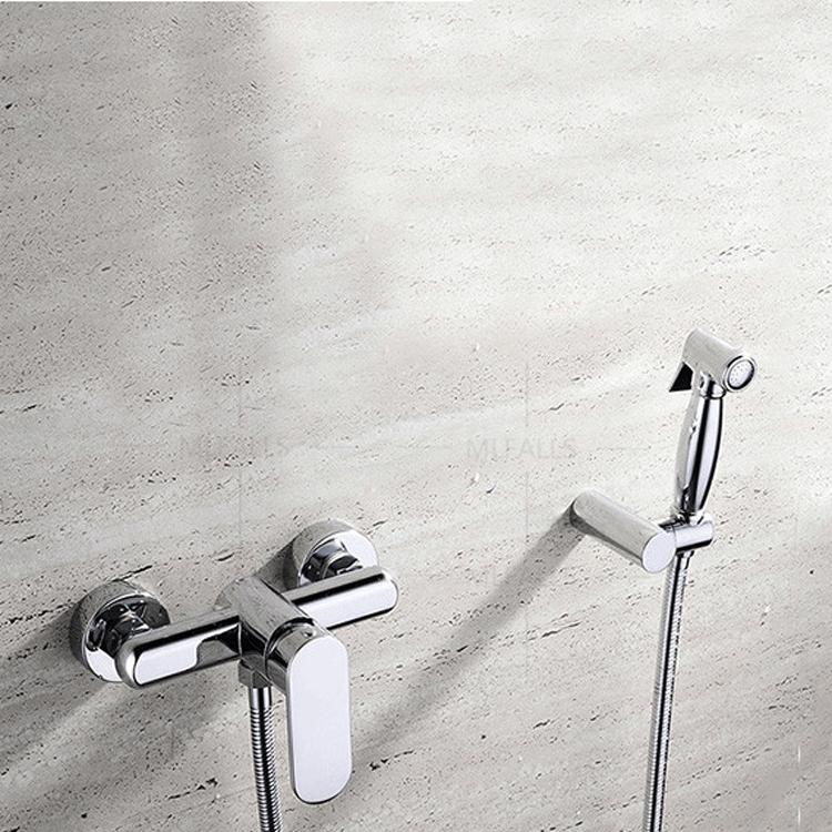 Toilet Brass Hand Held Bidet Spray Shattaf Hot Cold Water Valve Mixer With Holder Hose Sprayer Jet Tap Douche Kit Buy Hand Held Bidet Spray Bathroom Diaper Sprayer Bathroom Chrome