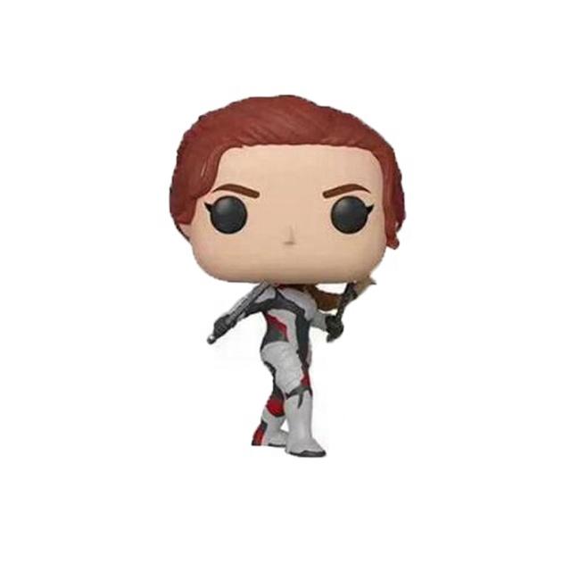 ธานอส Black Widow Ironman Tony Stark Thor โมเดลไวนิลเด็กบรูซแบนเนอร์นาตาชาโรมา FUNKO POP Marvels Endgame น่ารัก